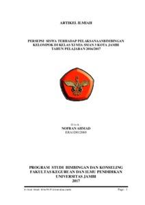 Artikel Ilmiah Skripsi Repository Unja